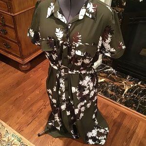 Plus size shirt dress by EShakti